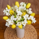 Freesias and Tulips