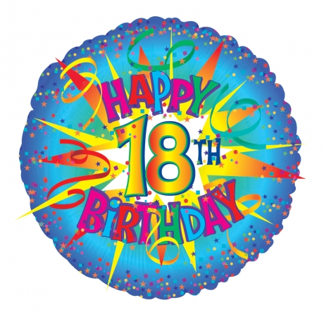 "Perfect for an 18th birthday! 18"" Helium Balloon."