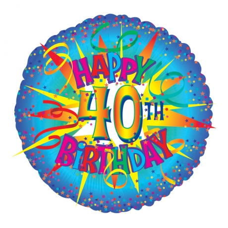 "Perfect for a 40th birthday! 18"" helium balloon."
