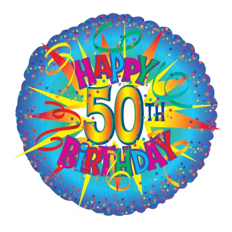 "Perfect for a 50th birthday! 18"" helium balloon."