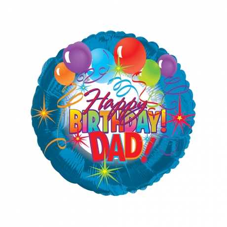 Wish your Dad a Happy Birthday with this 18 inch helium balloon.