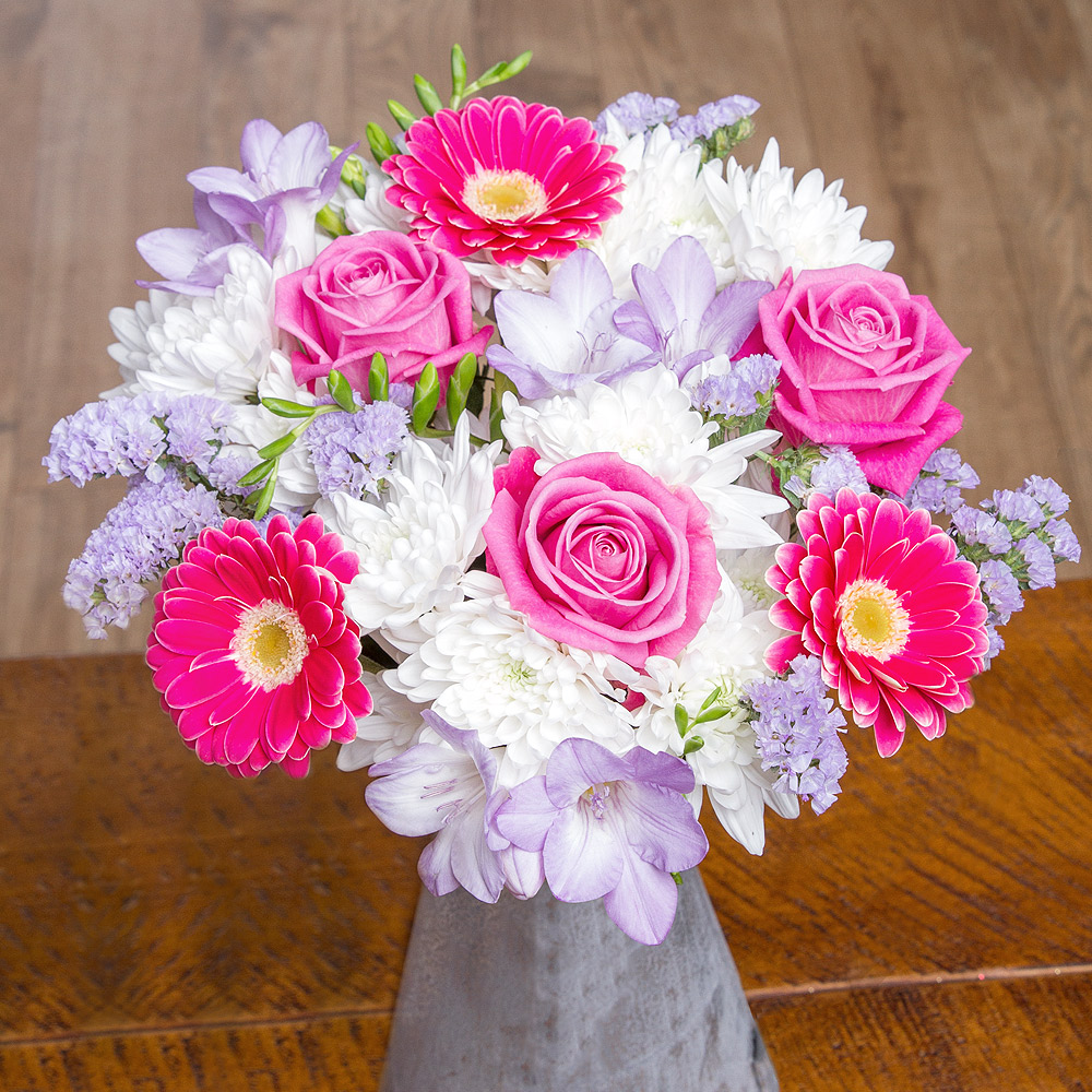 This wonderful display of delicate pastel colours is perfect to send as an extra special Mother's Day gift.<br /><br />
