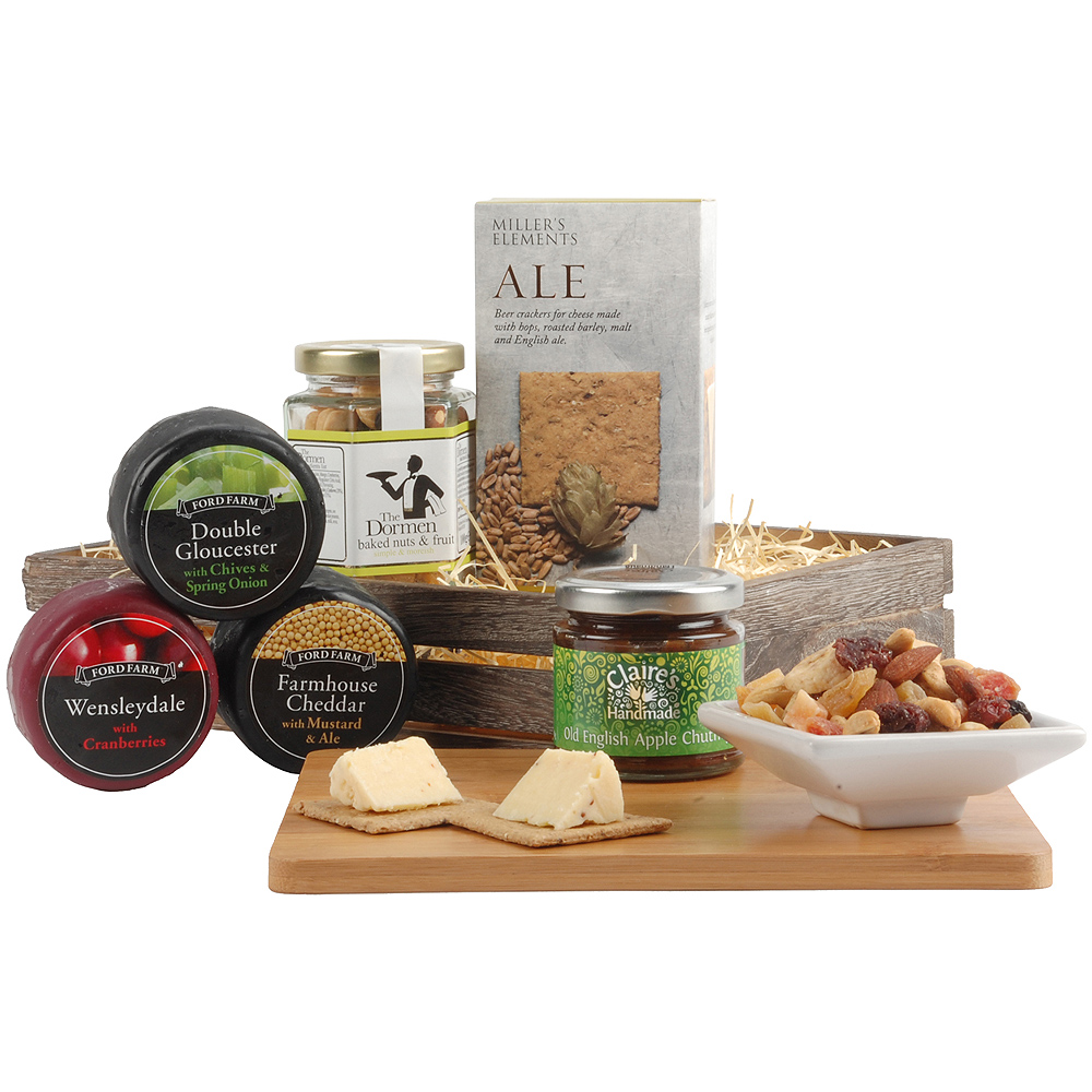 This extremely appetizing hamper will make an excellent gift for a cheese connoisseur!<br /><br />