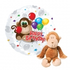 Monkey Birthday Balloon Gift