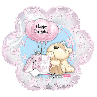 Birthday Gift Bear Balloon