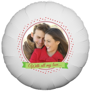 Dotted Frame Photo Balloon