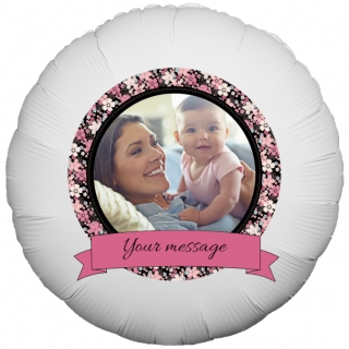 Floral Border Photo Balloon