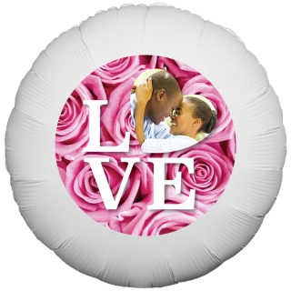 Love Quote Roses Balloon