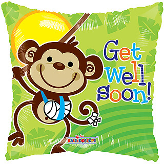 Monkey Get Well Balloon