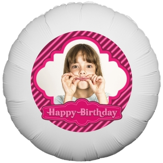 Stripey Birthday Photo Balloon