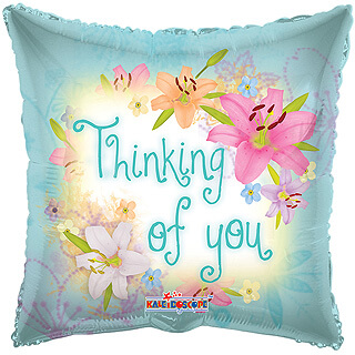 Thinking of You Flowers Balloon