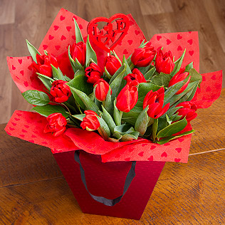 Romantic Tulips Gift Bag