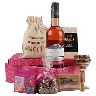 Ladies Rose & Treats Basket