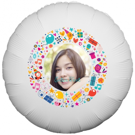Bunches.co.uk, 488[^]BP006 Birthday Illustrations Balloon BP006