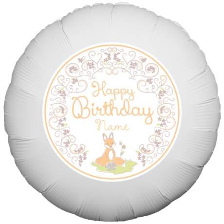 Bunches.co.uk, 488[^]BP038 Floral Fox Birthday Balloon BP038