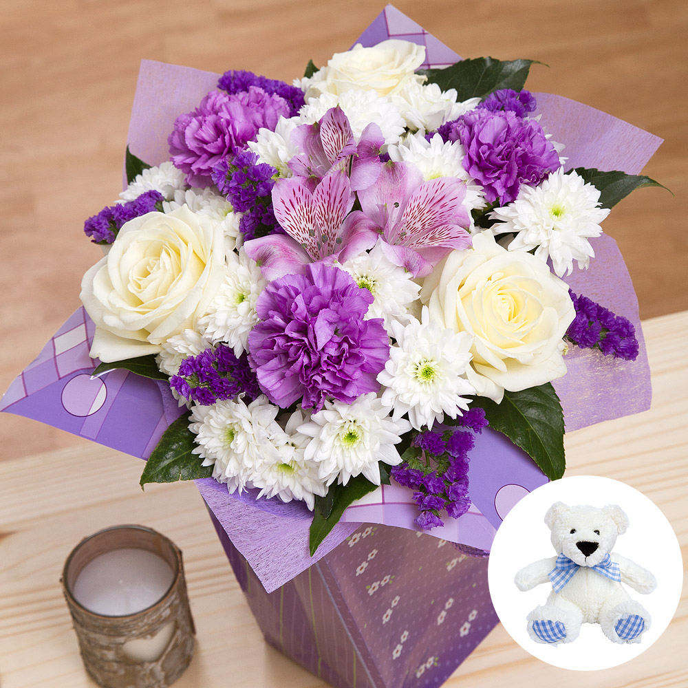 Baby Boy Gifts Flowers : Baby boy gift flowers by post uk bunches
